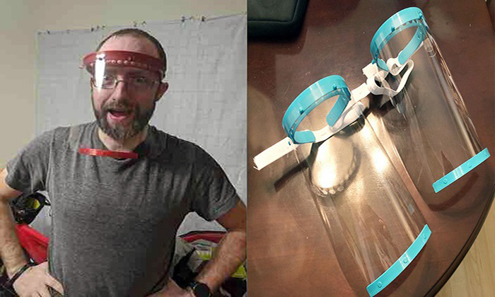 Dr. Eric Bubar Wearing A 3d Printed Face Shield