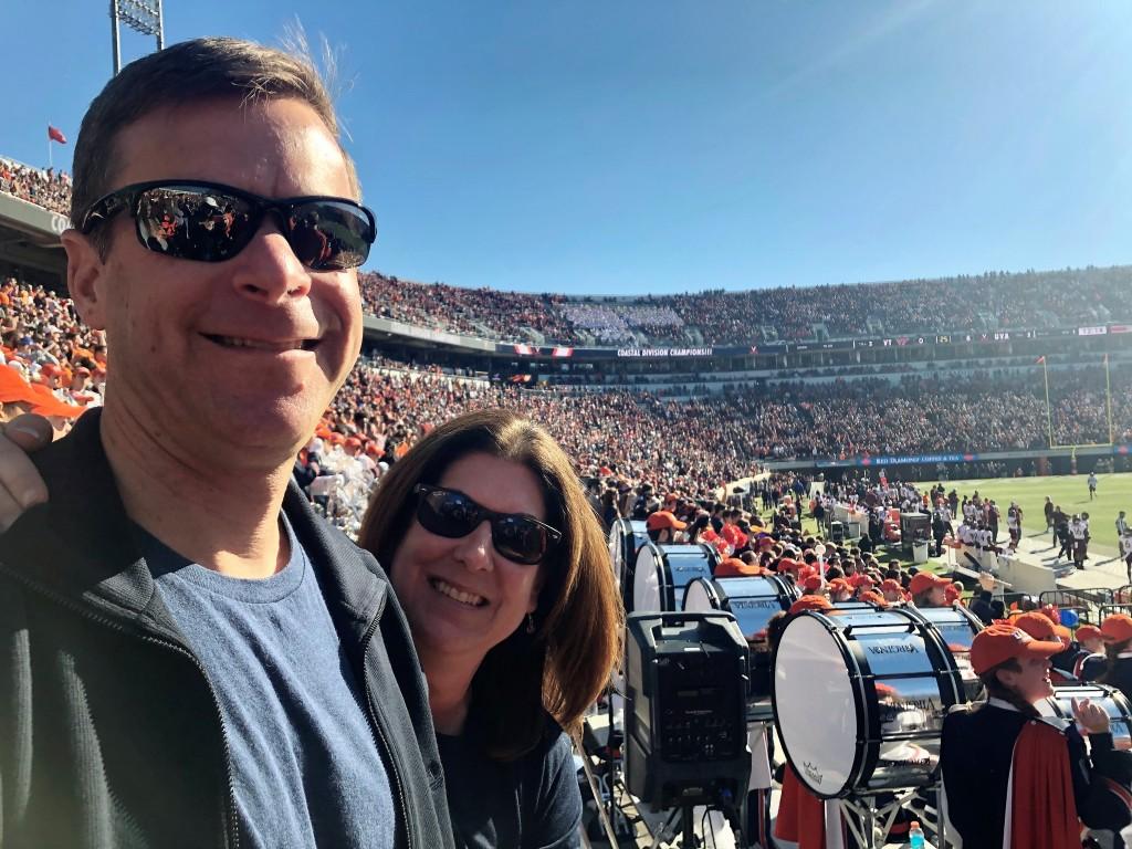 Kim And Husband At Uva Football Game