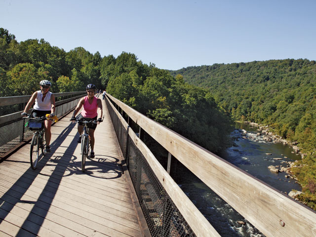Laurel Highlands Visitors Bureau, Great Allegheny Passage Rail Trail Through Ohiopyle Borough