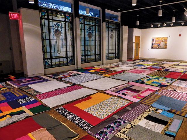 Quilts Laid Out On The Floor Of Aac's Tiffany Gallery Photographed By Debra Wright