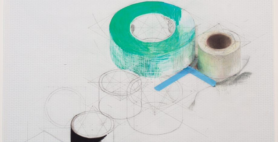 Rebecca Rivas Rogers, Working Drawing (green Tape), 2018