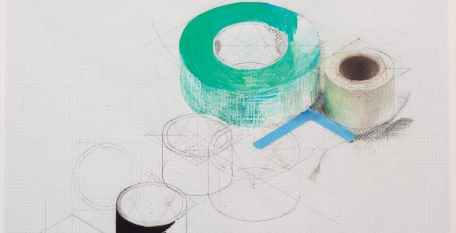 Rebecca Rivas Rogers, Working Drawing (green Tape), 2018