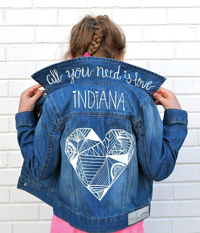 Scoutindiana Geometric Heart Denim Jacket