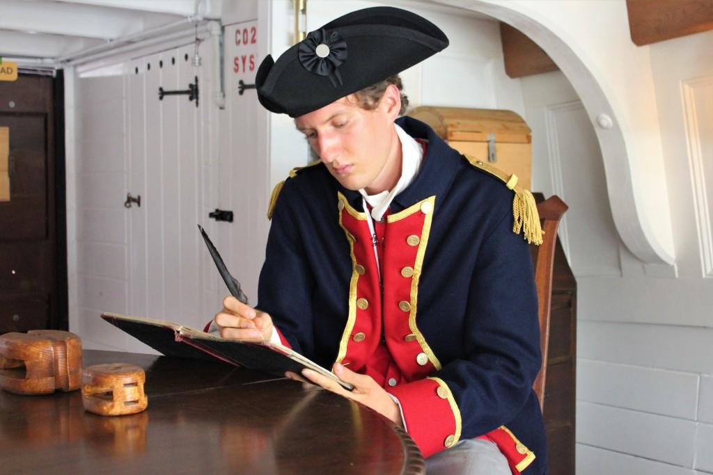 Capt John Paul Jones In His Cabin