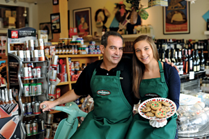 Italian Store owner Robert Tramonte with his daughter Katherine